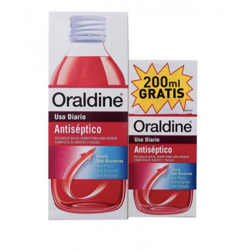 ORALDINE ANTISEPTICO PACK 400+200 ML.